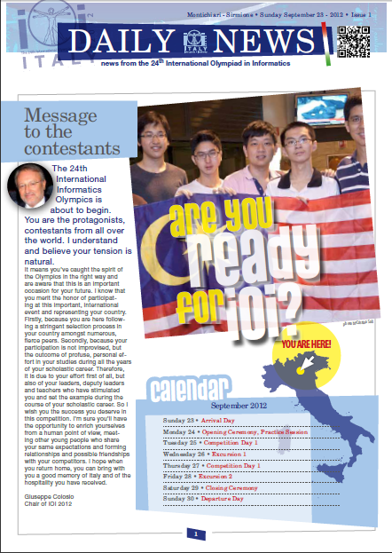 Newsletter issue 1, page 1
